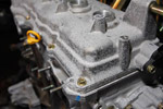 Engine block closeup