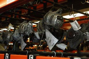 Alternators in a warehouse
